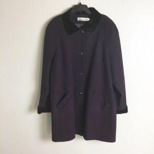 Vintage Alfred Dunner Purple Coat Plus Size 24W